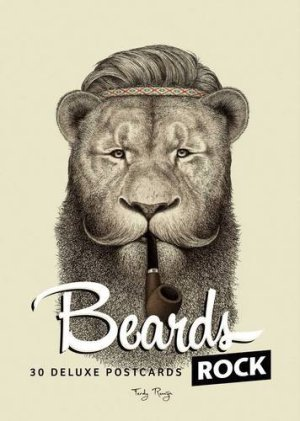 Beards rock postcards