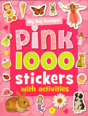 1000 Stickers With Activities Pink
