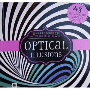 Kaleidoscope Colouring Books Optical Illusion pink