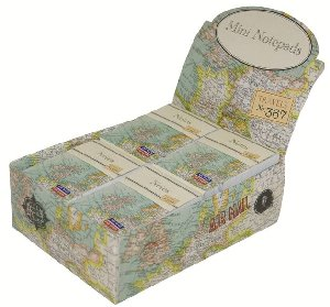 Vintage Map  Mini Notepad