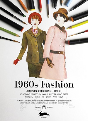 1960 Fashion - Artists Colouring Book