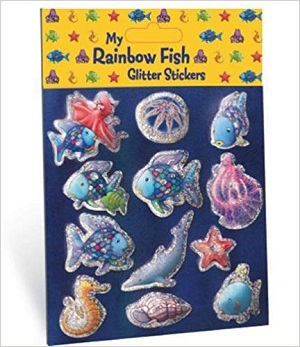 My Rainbow Fish Glitter Stickers (ordine minimo scatola da 20)