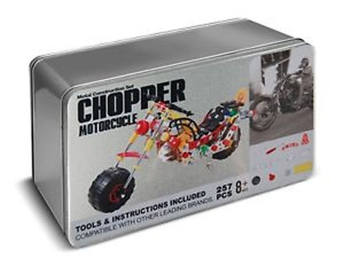257 Piece Chopper Motorcycle Metal Construction Kit
